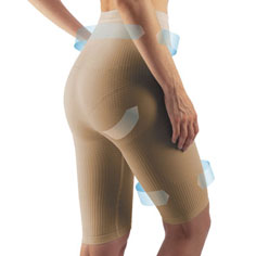 farmacell cellulite smoothing and shaping shorts (nude)