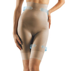 farmacell high-waist shaping shorts (nude)