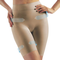 farmacell double-layer shaping shorts (nude)