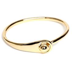 cc skye bolt wristlet (gold)