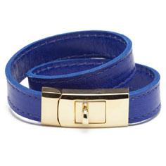 cc skye double wrap portico bracelet (blue + gold)