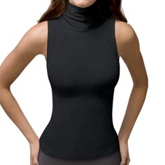 spanx on top! chic sleeveless turtleneck