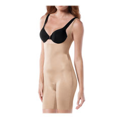 spanx slimplicity open-bust mid-thigh bodysuit