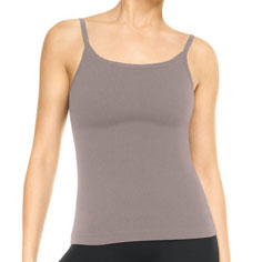 spanx active ribbed cami top (steely grey)