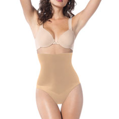 spanx undie-tectable high-waisted panty (nude)