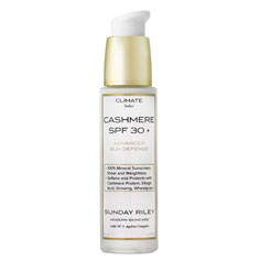 sunday riley cashmere spf 30+ advanced sun defense