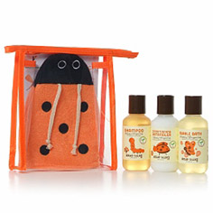 little twig travel basics set (happy tangerine)