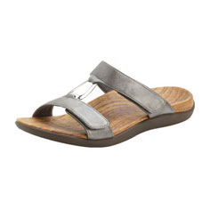 orthaheel layla sandal (chrome metallic)