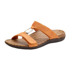 orthaheel layla sandal (rust)