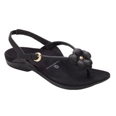 dr. weil integrative footwear dhyana sandal (black)