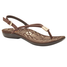 dr. weil integrative footwear accomplish sandal (chocolate / gold)