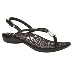 dr. weil integrative footwear accomplish sandal (black / silver)