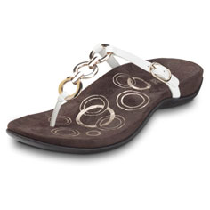 orthaheel anna sandal (white)