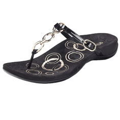 orthaheel anna sandal (black)