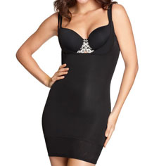 yummie tummie lavonne bustless slip (black)