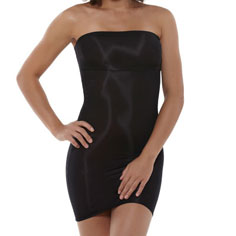 yummie tummie nic strapless slip (black)