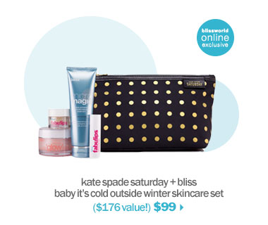 shop kate spade + bliss baby it's cold outside winter skincare set'