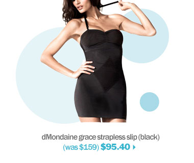 shop dMondaine smoothing strapless slip
