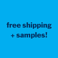 free samples with every order! free shipping on US orders over $50!