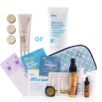 Get a FREE beauty bag bursting with goodies and a FREE full-size skincare product!