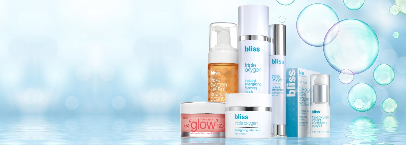 bliss triple oxygen radiant skin collection