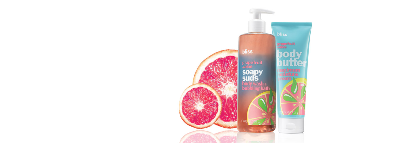 grapefruit and aloe bath and body care