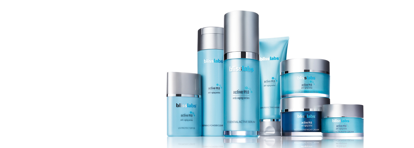 blisslabs active99.0 anti-aging skincare collection