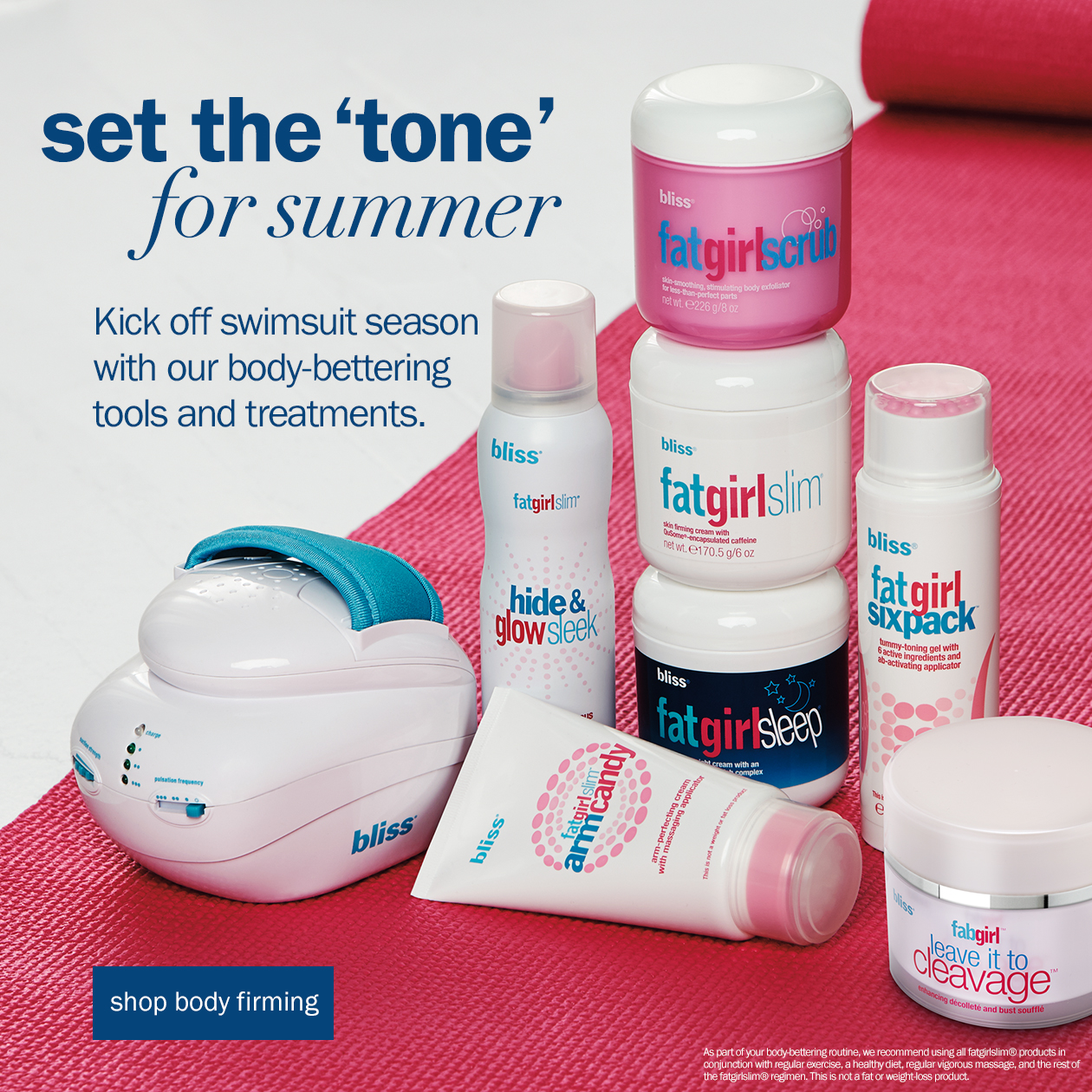 bliss body firming and toning fatgirlslim collection