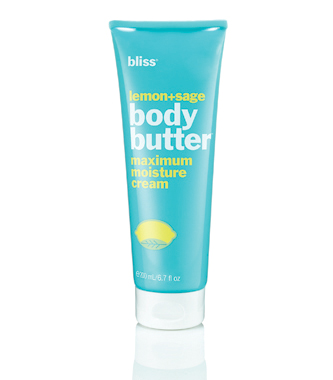 bliss paraben free lemon + sage body butter