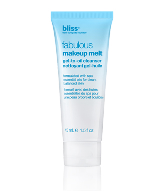 bliss fabulous makeup melt gel to oil cleanser travel size