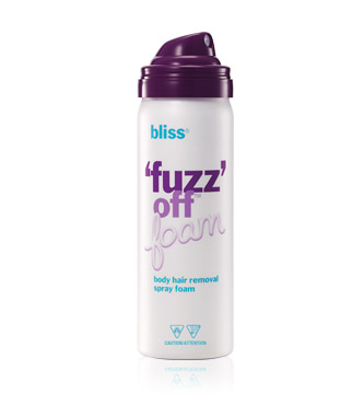 bliss fuzz off foam travel size
