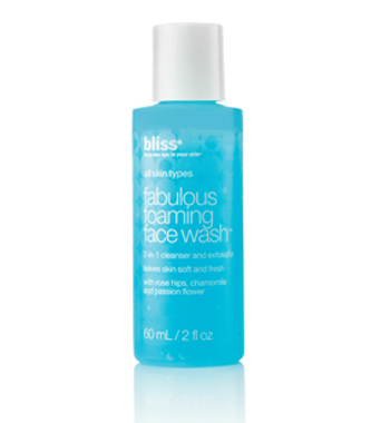 bliss fabulous foaming face wash travel size