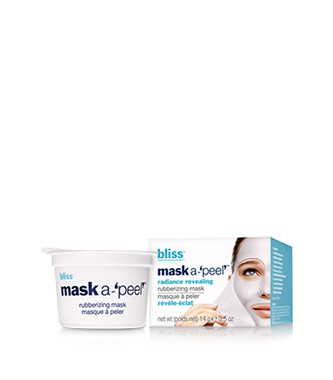 bliss mask a-'peel' radiance revealing rubberizing mask beauty-to-go