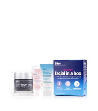 bliss 'night night' facial in a box