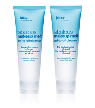 bliss fabulous makeup melt gel-to-oil cleanser set of 2