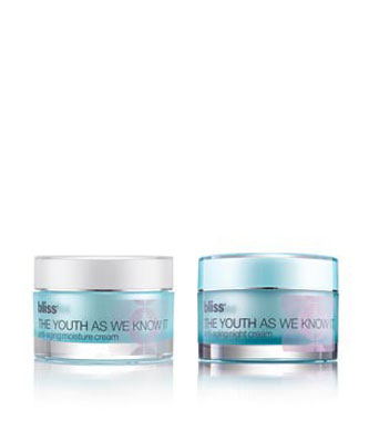 bliss the youth as we know it moisture + night cream set