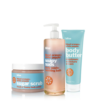 bliss orange a-'peel' body care set