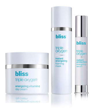 bliss triple oxygen Clarify Protect Revitalize trio