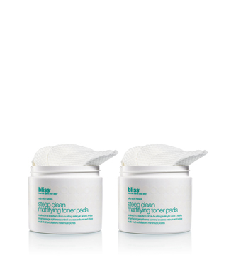 bliss steep clean mattifying toner pads set of 2