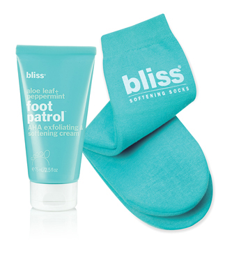 bliss softening socks + foot patrol cream set