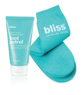 bliss softening socks + foot patrol cream set