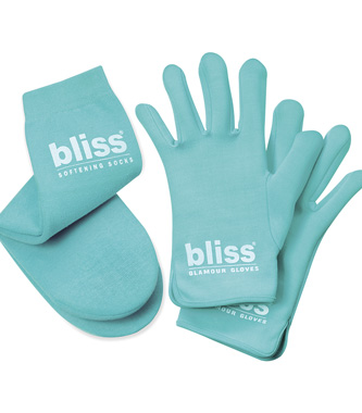 bliss softening socks & glamour gloves set