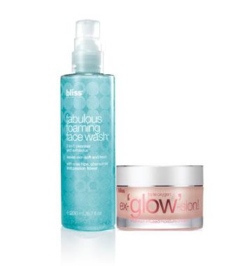 fabulous foaming face wash + triple oxygen ex-'glow'-sion moisturizer set