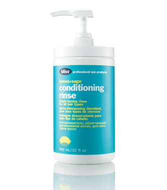 bliss lemon + sage conditioning rinse pro size
