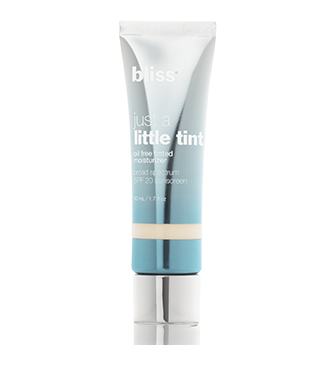 bliss just a little tint tinted moisturizer SPF 20
