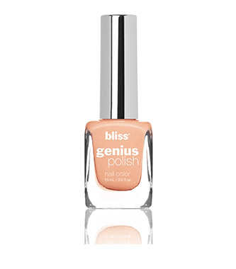 bliss genius nail polish (peach for the sky)