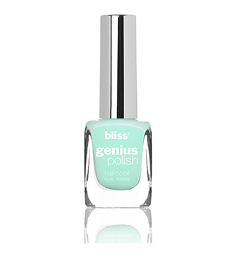 bliss genius nail polish (take a mint)