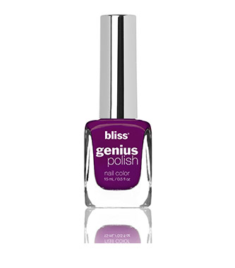 bliss genius nail polish (grape minds think alike)