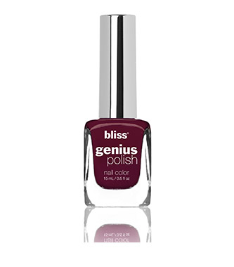 bliss genius nail polish (mull it over berry)