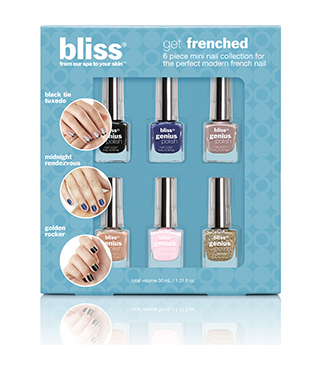 bliss 6 piece mini nail polish set